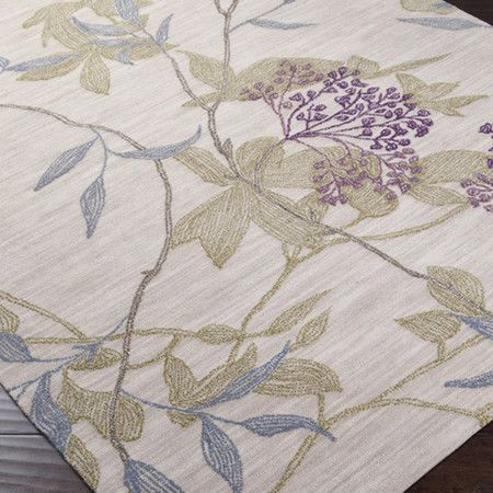 Amelia Rug  DETAILS  Add a pop of pattern to your living room or den with this hand-tufted rug, showcasing a botanical-inspired motif in parchment. Product:Rug Construction Material:100% Polyester Color:Parchment, olive, mauve, iris and taupe