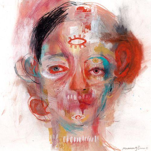 Marina Gonzalez Eme, Portraits. Intense, often demonic portraits...