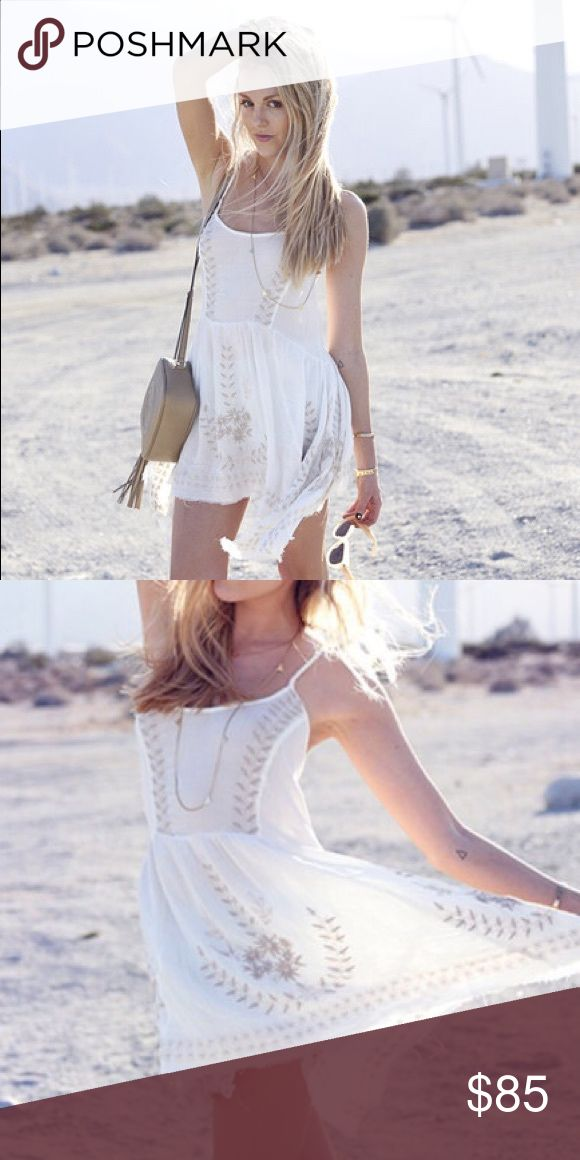 Free people white dress Flowwy free people white dress. Never been worn. As seen on blogger peaceloveshea Free People Dresses Mini