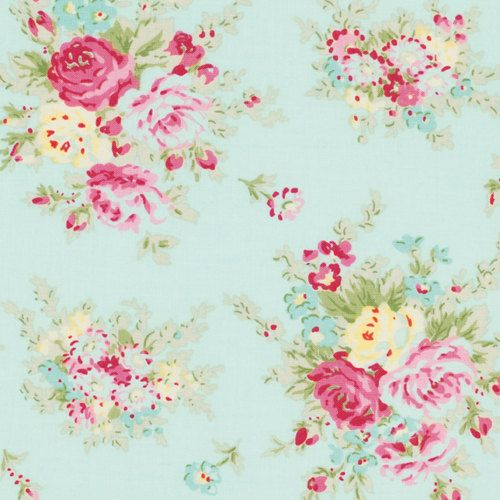 ARRIVING June 13th Tanya Whelan LITTLE BOUQUET Teal Pwtw064 Rosey Free Spirit Shabby