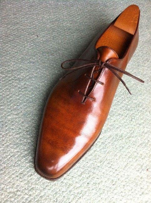 【靴】◆ベルルッティ・アレサンドロの靴磨き - エアルートの虹