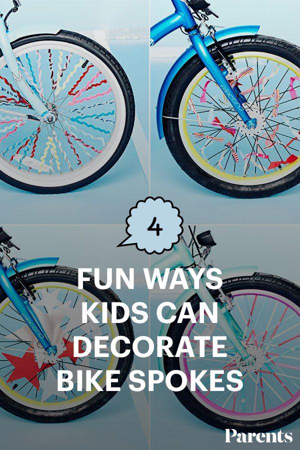 4 Fun Ways To Decorate Kids Bike Spokes Fun Crafts For Kids