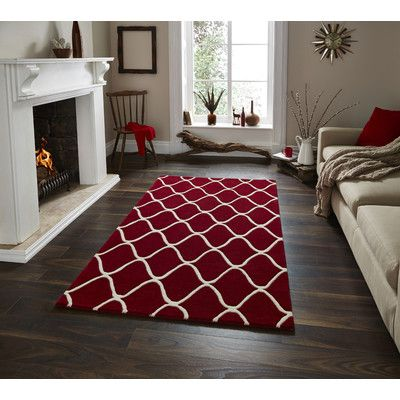 Think Rugs Elements Red Rug & Reviews | Wayfair UK