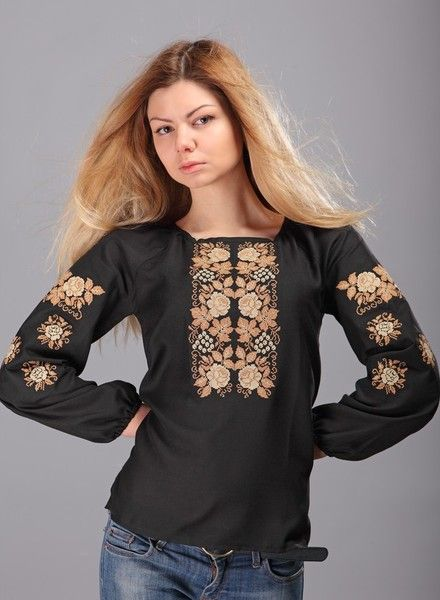 Ethnic spring blouse ,vyshyvanka with beautiful floral embroidery