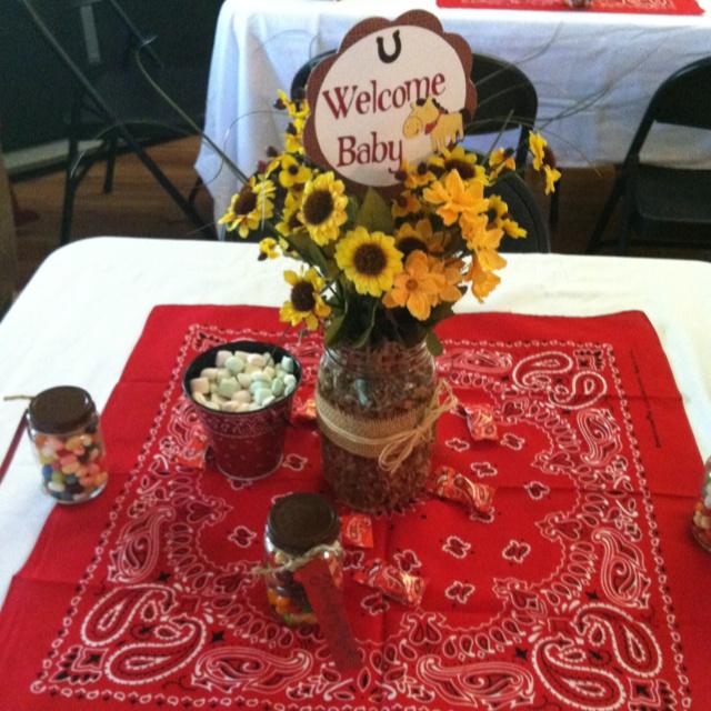 Western theme Baby Shower decor | Baby stuff (:
