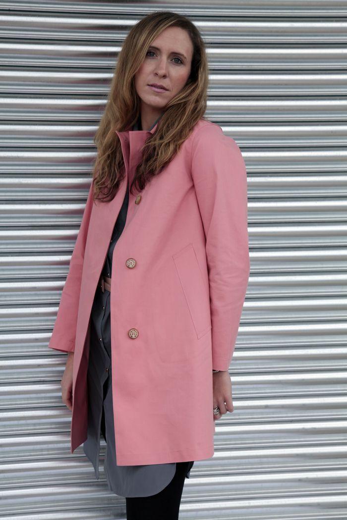 Country Attire Buyer, Rebecca wearing the #Mackintosh Banton Coat http://www.countryattire.com/mackintosh-ladies-banton-coat-peach-5756de.html
