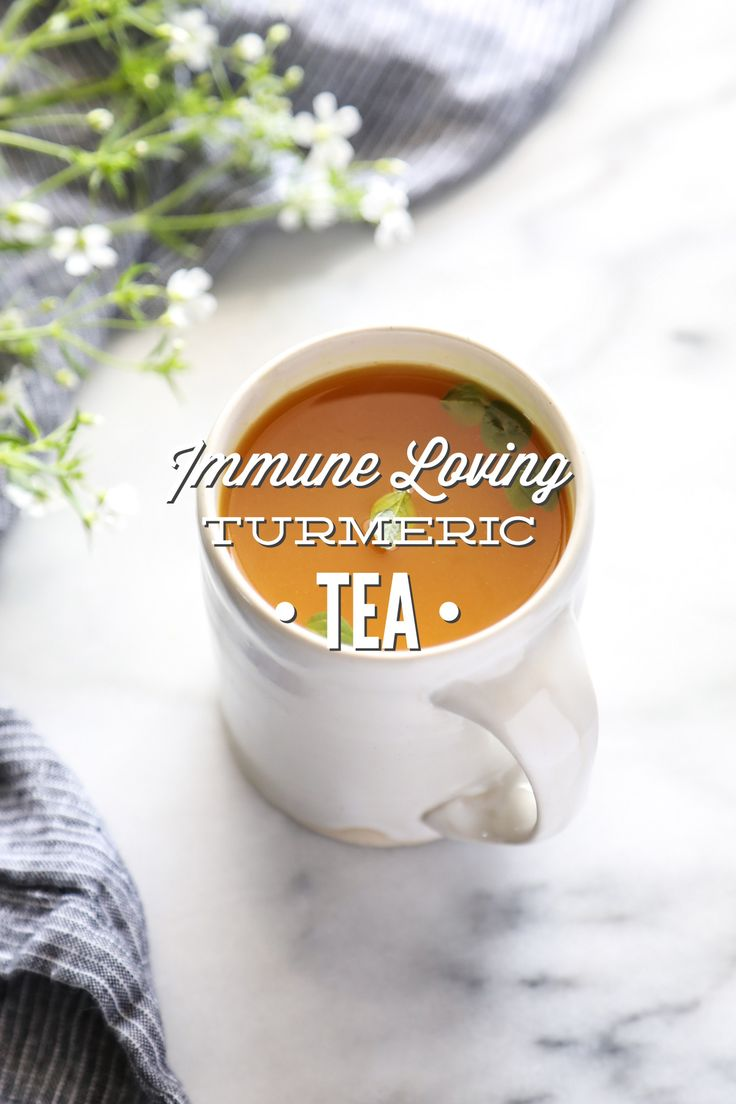 A caffeine-free tea made with turmeric, lemon, mint, honey, and ginger. Turmeric is a natural anti-inflammatory, that's also rich in antioxidants.