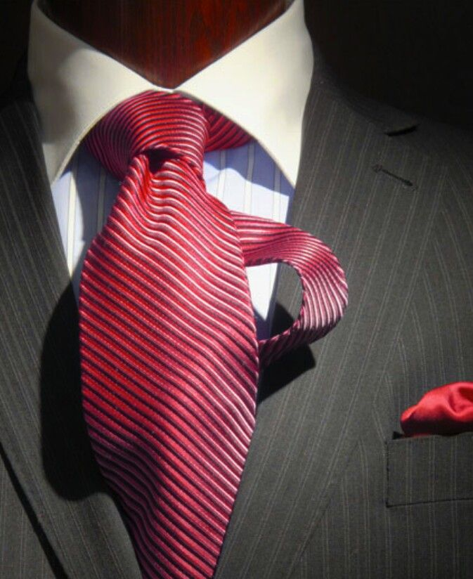 Red tie - men's fashion style