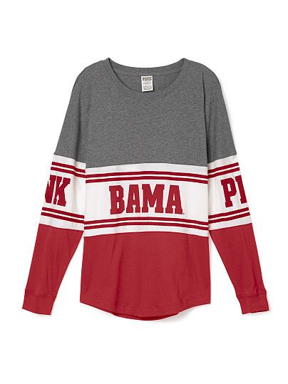 University of Alabama Varsity Crew PINK - not really a fan, but this is adorable.