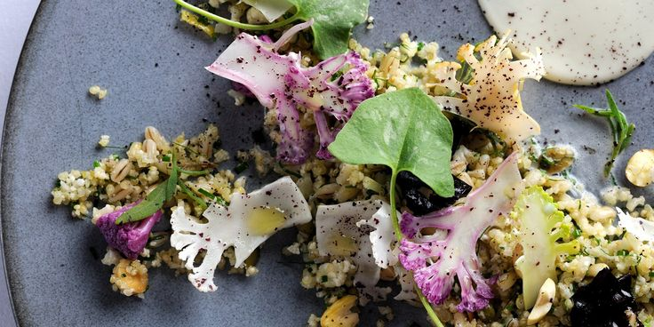 This cauliflower and romanesco recipe from Agnar Sverrisson is very playful, including cauliflower and romanesco pickles and a cauliflower couscous