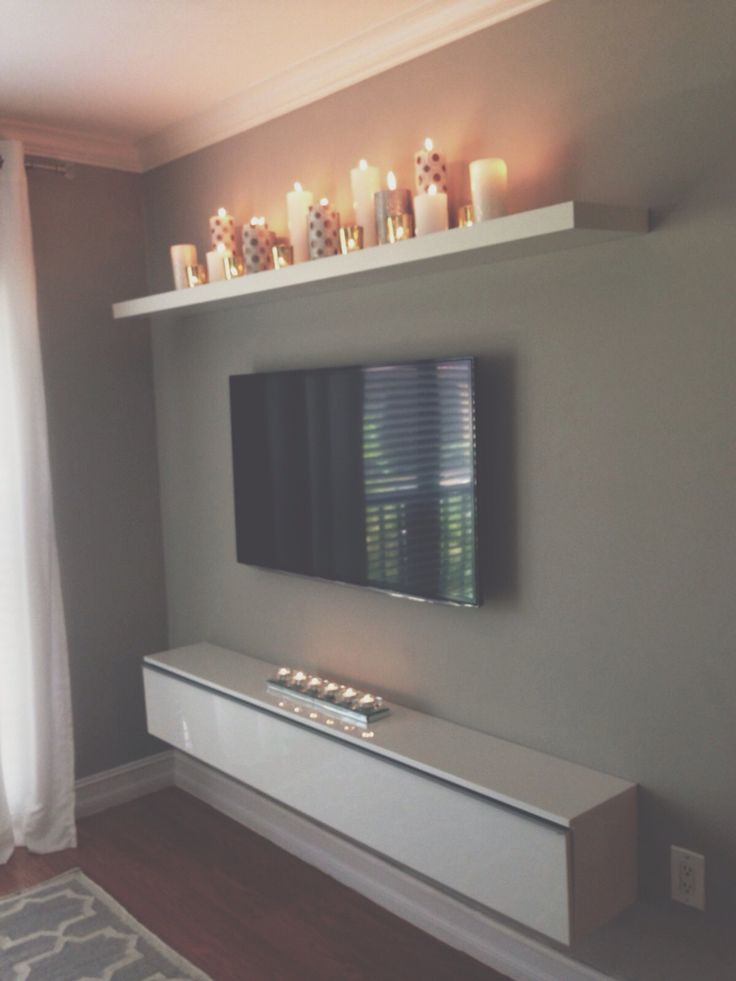 40 TV Wall Decor Ideas. Floating Shelf ...