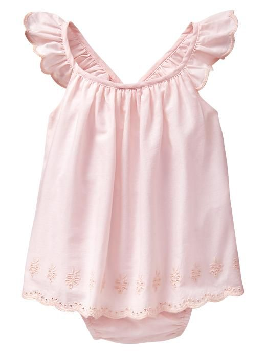 Eyelet flutter body double baby gap
