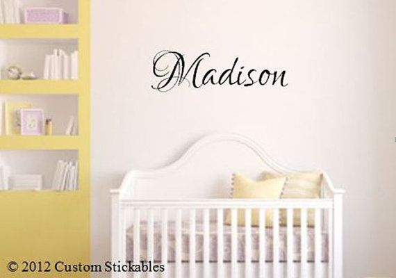 """10"""" tall  Vinyl Wall Decals Custom Baby Nursery  Any by CustomStickables, $11.00"""