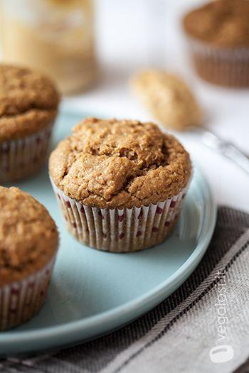 muffin vegani al burro di arachidi