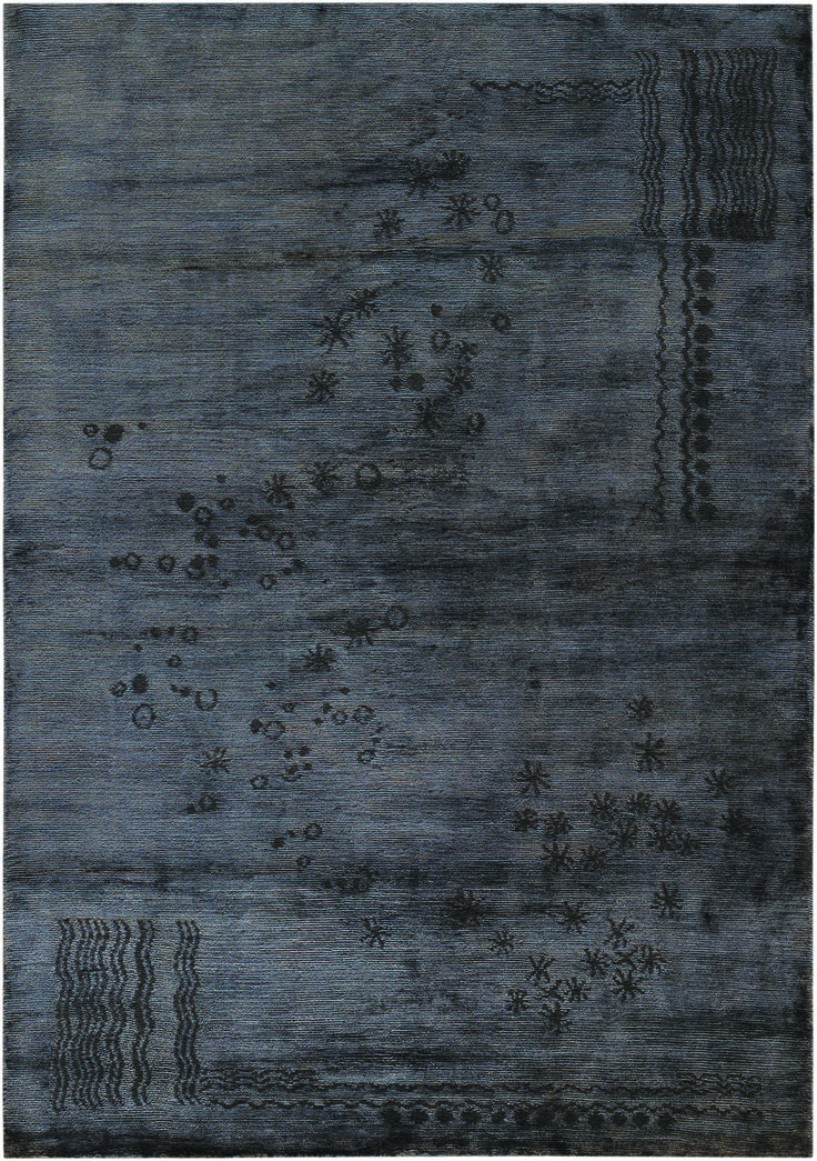 Buy Michael Smith Collection Indigo Night Rug By Mansour   Quick Ship  Designer Rugs From Dering Hallu0027s Collection Of Contemporary Organic Solid  New.