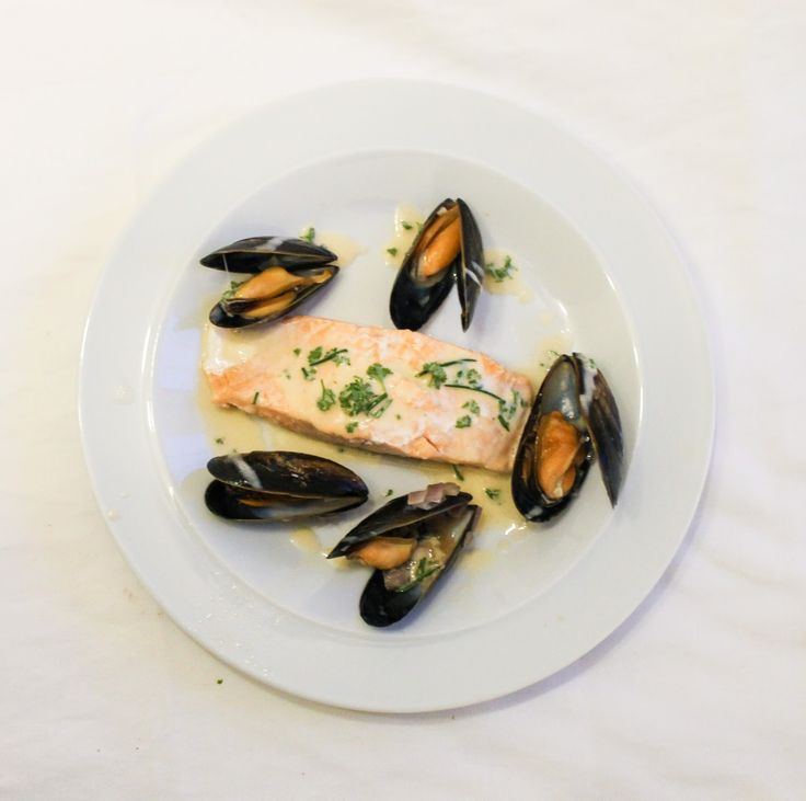 salmon with mussel sauce more cream sauce gluten free free recipes ...