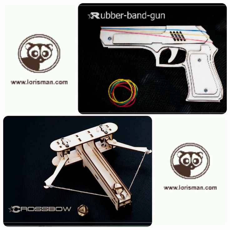 Gift For Him DIY Crossbow + Rubberband Gun. Father Or Husband ...