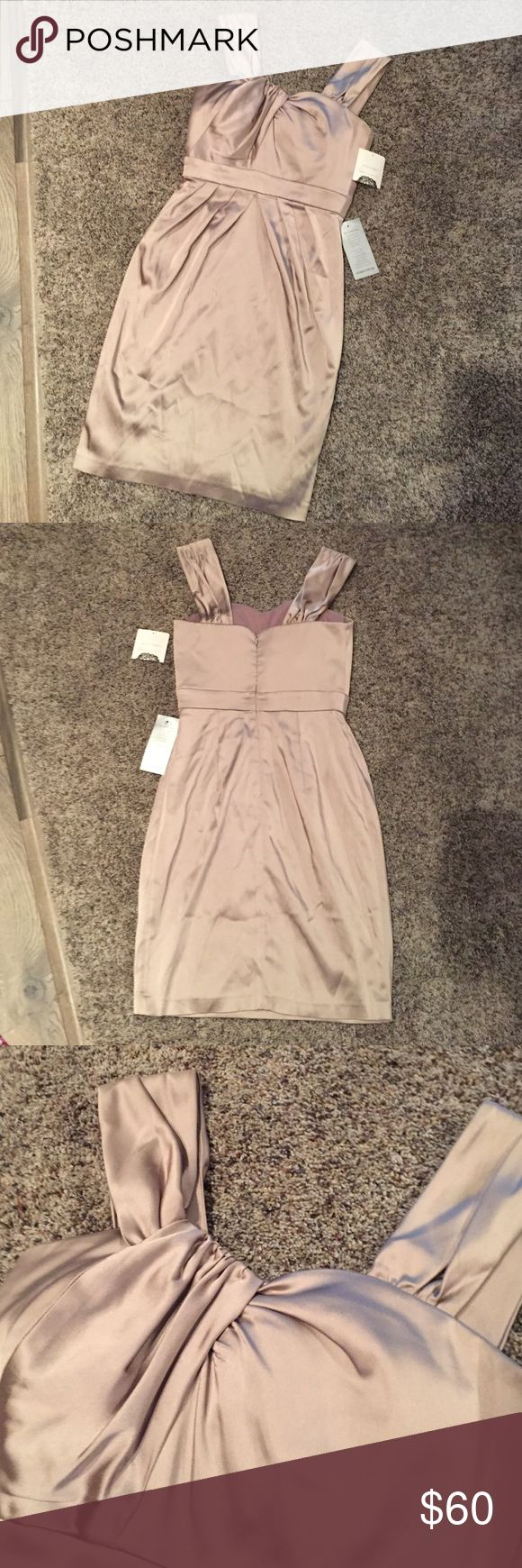 NWT dress NWT Donna Morgan nude satin dress. Great for special occasions, mother of the bride, etc. 😊 Donna Morgan Dresses Midi