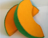 canteloupe - small pieces of velcro so they stick together and create a whole melon?