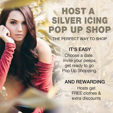 Contact me to host your very own Pop Up Shop and it is all ONLINE!!! sonya@silvericing.com