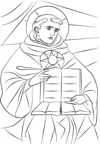 Saint thomas aquinas coloring page mystery of history 2 for St kateri coloring page
