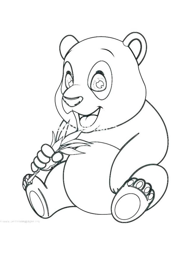 Panda Bear Coloring Pages Easy. Panda is a China national ...