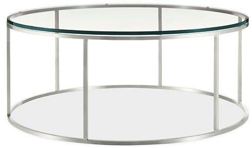 Tyne Round Cocktail Tables in Stainless Steel