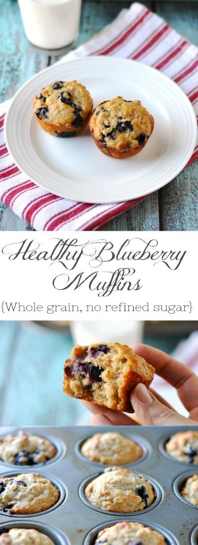 """My healthy blueberry oat muffins are so delicious and comforting. Made with 100% whole wheat pastry flour, oats, maple syrup, coconut oil & Greek yogurt.