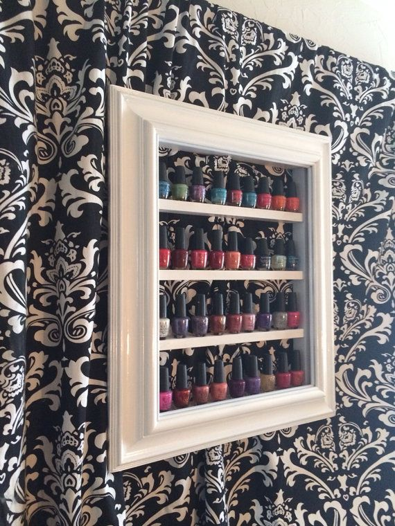 Nail Polish Storage Decorative Frame by RustyElegance on Etsy