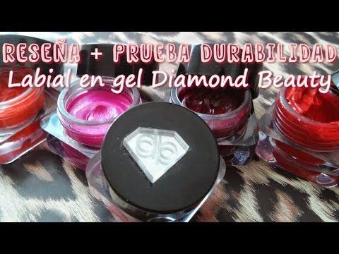 Reseña Labial en Gel Diamond Beauty Gel de Larga Duracion + Prueba de du...