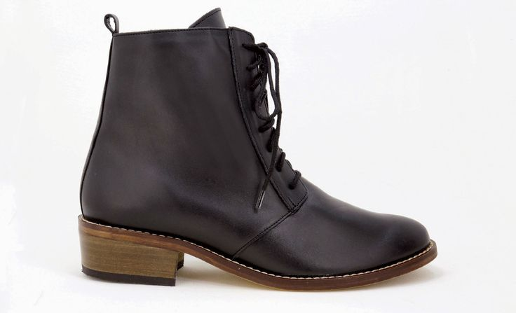 Natural Steps - Our Health Range Handmade Genuine Leather Boots. Lace up boot with side zip.  R 1'199. Handcrafted in Durban, South Africa. Code: 7050 Black Shop for Natural Steps online https://www.thewhatnotshoes.co.za Free delivery within South Africa