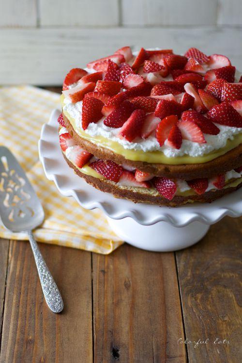 Gluten free, nut free lemon pound cake with honey sweetened curd and fresh berries. A perfect springtime dessert with fresh seasonal berries. #glutenfree #grainfree #paleo