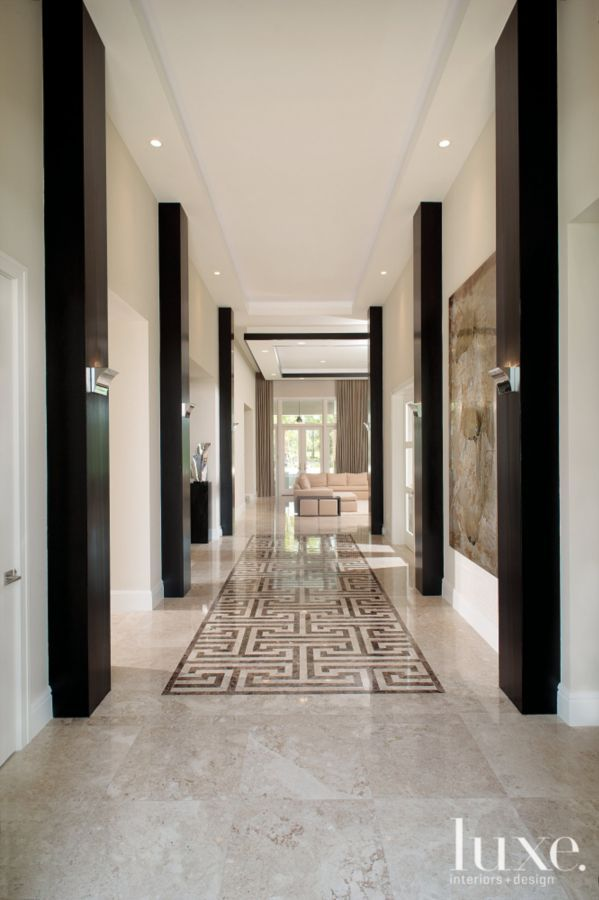 Modern Brown Entry Hallway | LuxeSource | Luxe Magazine - The Luxury Home Redefined