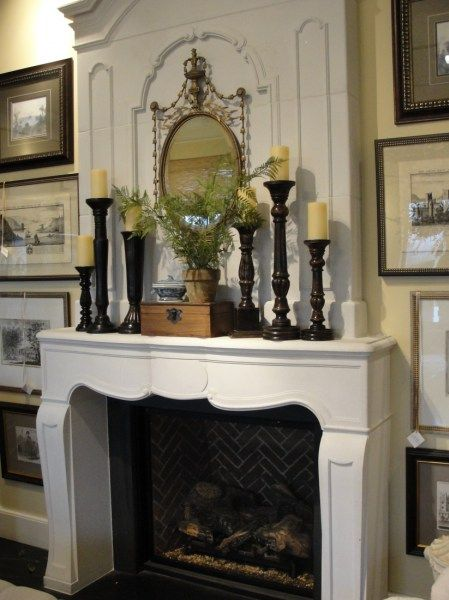 Elegant French Country Fireplace Mantle accessories