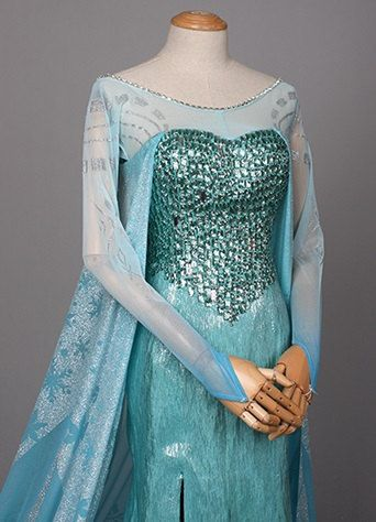 J711 Movies Frozen Snow Queen Elsa Cosplay Costume Deluxe Dress tailor made adult and teenager on Etsy, $280.00