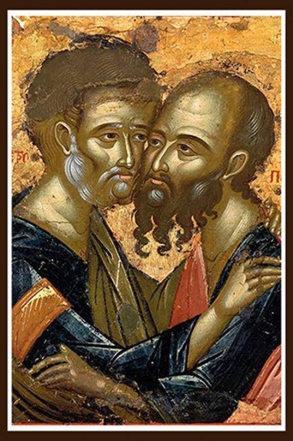 Άγιοι Πρωτοκορυφαίοι Απόστολοι Πέτρος και Παύλος - All-Praised Apostles Peter and Paul