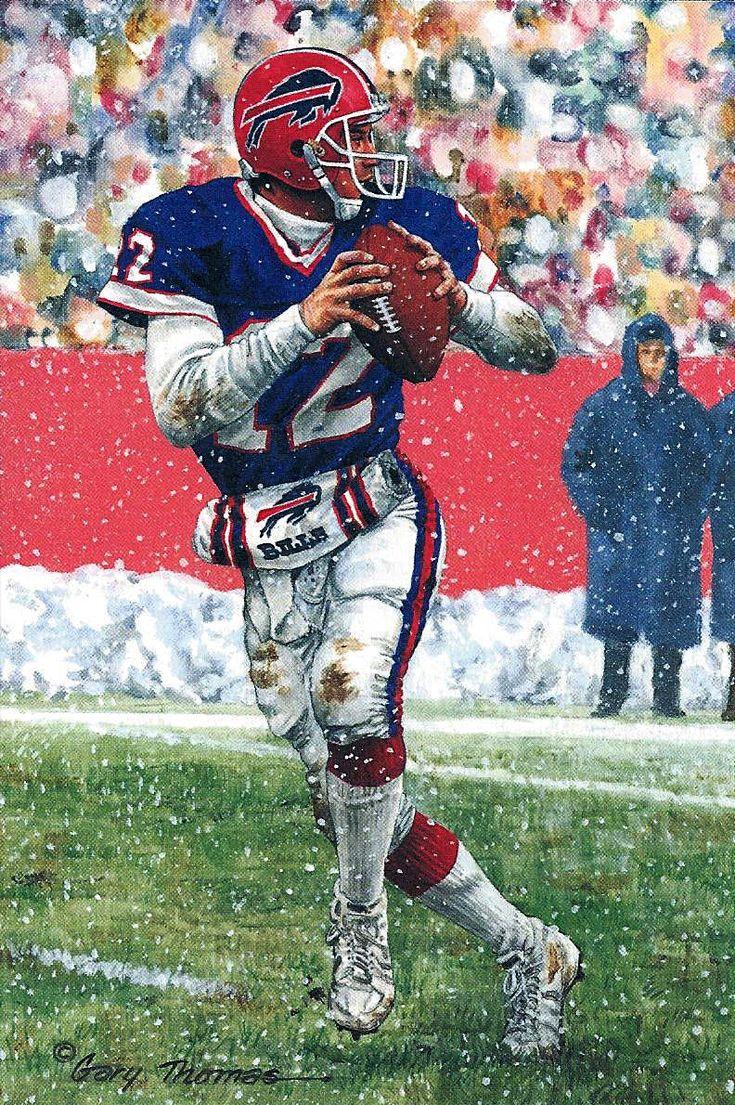 Jim Kelly by Gary Thomas.  #NFL #BuffaloBills #JimKelly #FootballArt