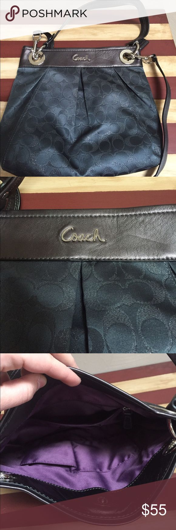 Coach large crossbody purse Excellent unused condition NWOT. Super cute neutral purse, will match everything! Can be worn on shoulder or crossbody Coach Bags Crossbody Bags