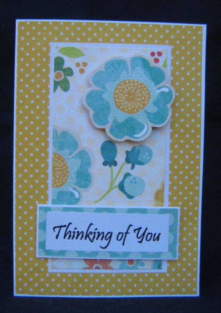 Thinking of you card created with My Minds Eye paper
