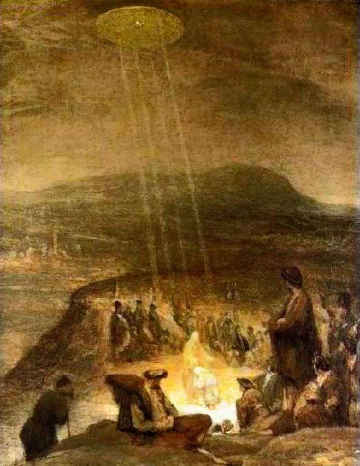 OVNIS en el arte: El bautismo de Cristo (1710) - Aert De Gelder