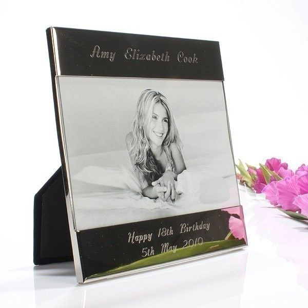 Shiny Silver Engraved Photo Frame | The Personalised Gift Shop