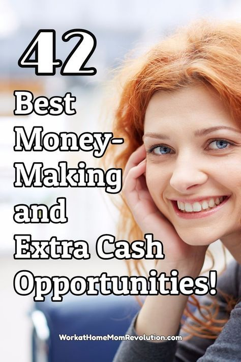 Are you looking for ways to make money from home? Whether it's a work at home job, a home business, a side hustle, or just an extra cash opportunity, these are the 42 best money-making and extra cash opportunities around! You can work from home! Find out