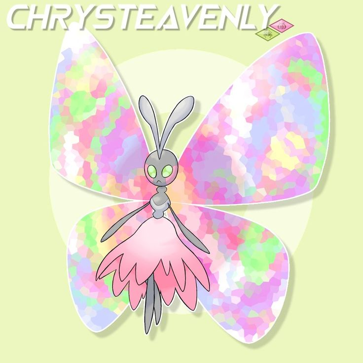 Chrysteavenly (Crystal/Chrysalis + Heavenly) Egg group: Bug/Psychic Ability: Levitate Signiture Ability: Healing Crystal- This Pokemon summons magical floating rocks from the ground that real...