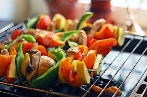 Deffmat: Grillspett med grönsaker & fläskfilé - 210 kcal