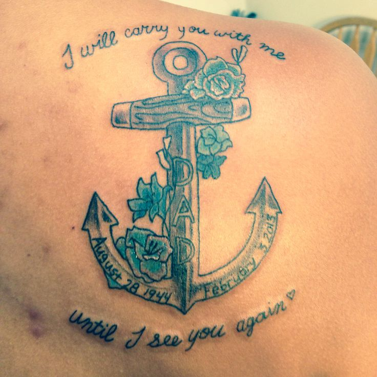 I will carry you with me until I see you again- Carrie underwood. Tattoo for my dad