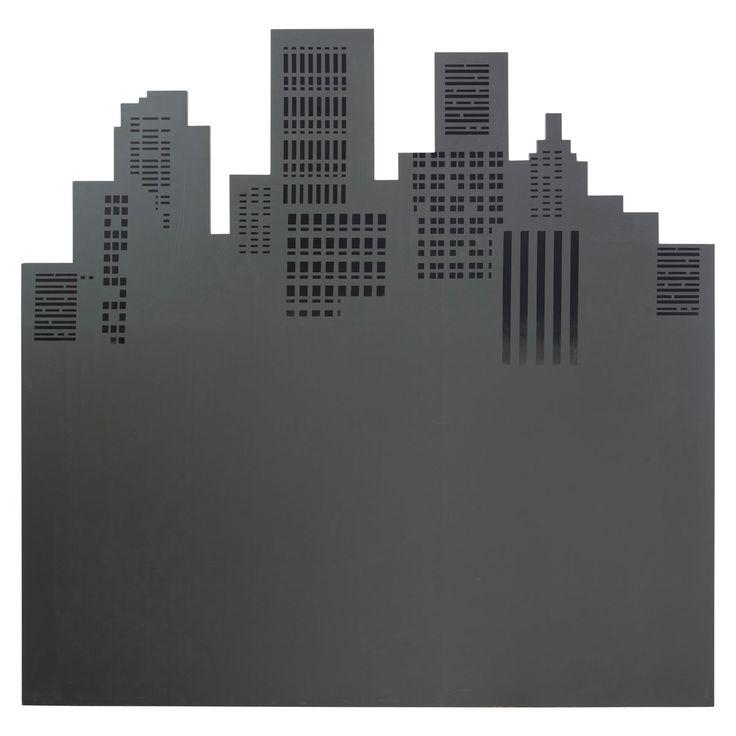 Tête de lit grise Skywalk | Maisons du Monde : inspiration avec d'autres villes ou monuments (idée) et couleur
