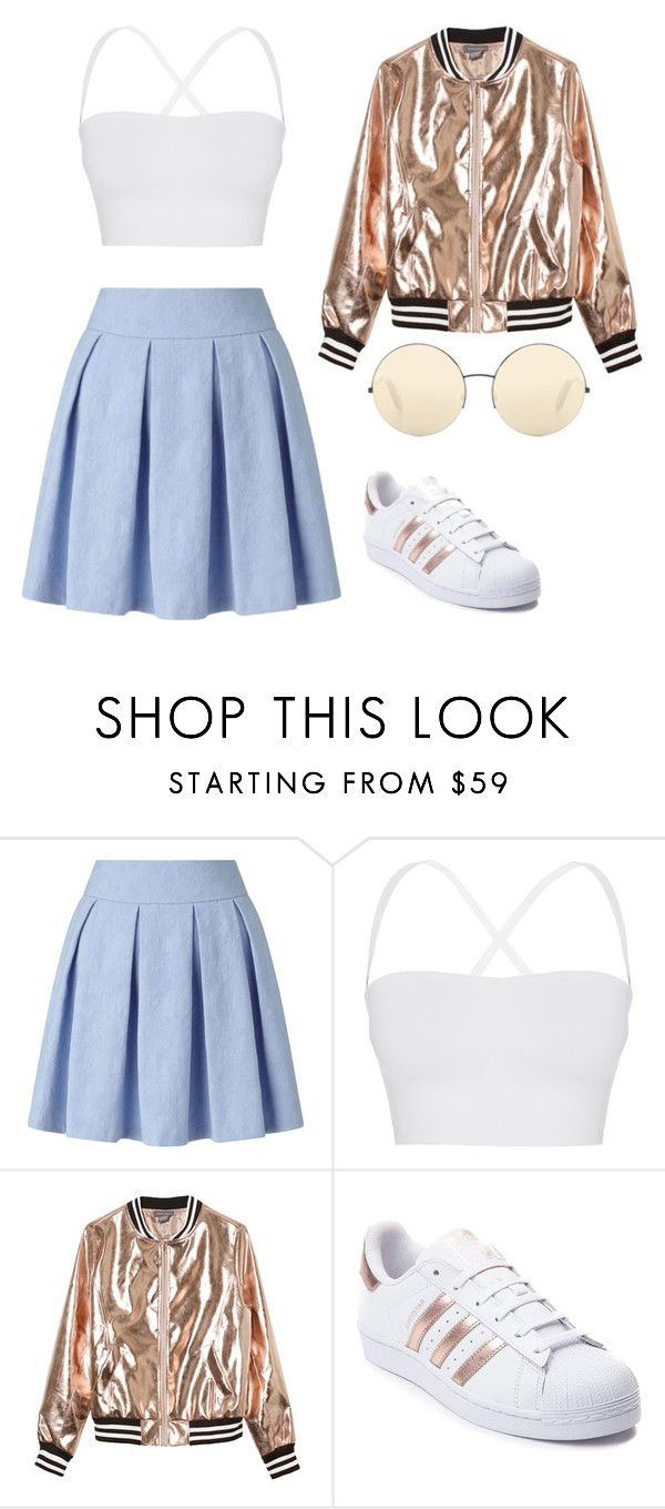 """""""Cute and pastel"""" by ifrancesconi on Polyvore featuring Miss Selfridge, Theory, Sans Souci, adidas and Victoria Beckham"""