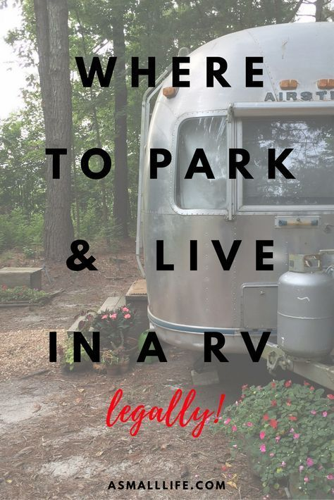 Where to Park and Live in a RV– legally!