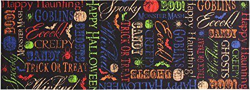 "Spooktacular Trick or Treat Halloween Indoor Outdoor Woven Table Runner 13x36"" Manual http://www.amazon.com/dp/B008YYUQMG/ref=cm_sw_r_pi_dp_y7wZtb0ASG4GRXX1"