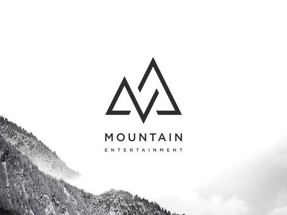 We love the minimal logo design combined with the mountain picture backdrop!